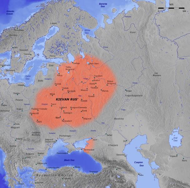 Rusia kieveană în secolul al 11-lea - foto preluat de pe ro.wikipedia.org