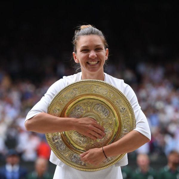 Simona Halep a câştigat turneul de la Wimbledon (13 iulie 2019) - foto preluat de pe /www.facebook.com/simonahalep