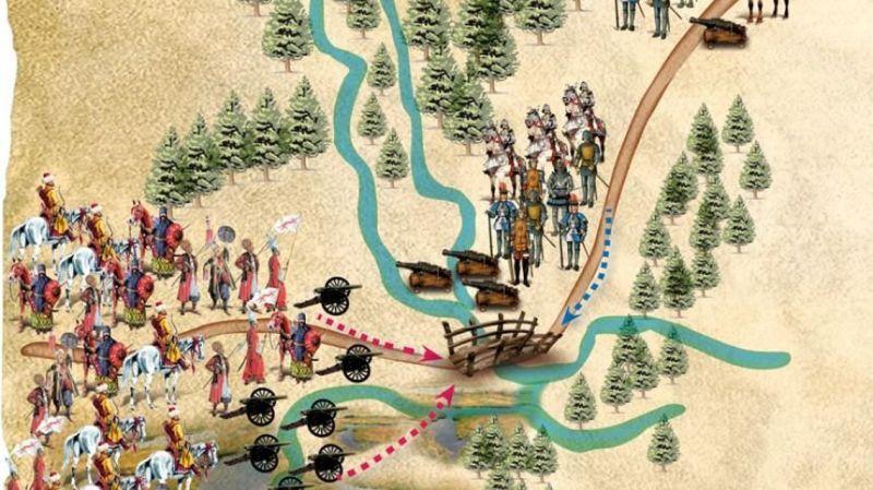 Bătălia de la Călugăreni (13/23 august 1595) - foto preluat de pe www.historia.ro