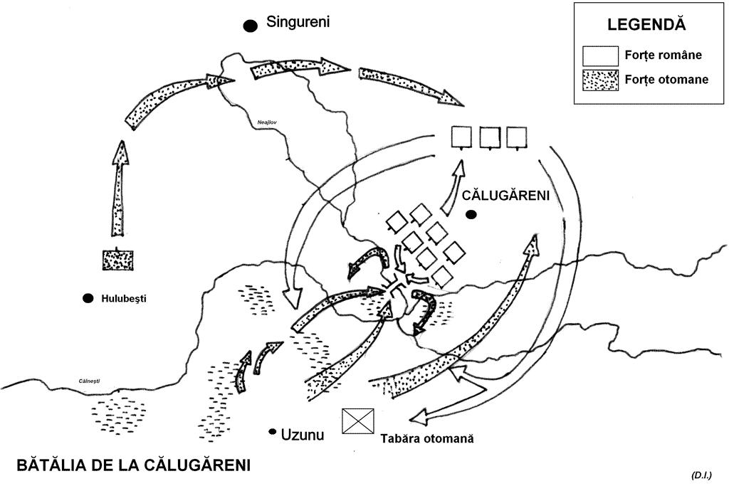 Bătălia de la Călugăreni (13/23 august 1595) - foto preluat de pe enciclopediaromaniei.ro
