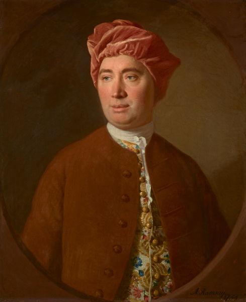 David Hume (n. 7 mai 1711, Edinburgh, Regatul Marii Britanii – d. 25 august 1775, Edinburgh, Regatul Marii Britanii) a fost un filozof, istoric și economist scoțian, un adept al empirismului, unul dintre reprezentanții cei mai de seamă ai Iluminismului scoțian - (Portrait by Allan Ramsay) foto preluat de pe en.wikipedia.org
