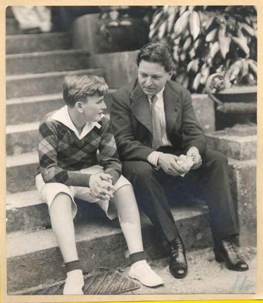 George Enescu si elevul sau, Yehudi Menuhin. foto: arhiva RFI Romania - preluat de pe www.facebook.com