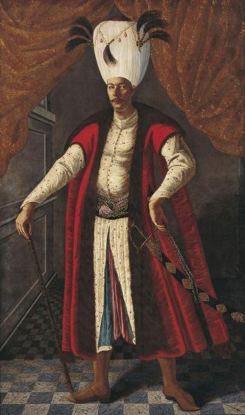 Mehmed al IV-lea (n. 2 ianuarie 1642 – d. 6 ianuarie 1693) a fost sultanul Imperiului Otoman în perioada 1648 - 1687 - Portrait of Mehmed IV (oil on canvas, 1682) - foto preluat de pe ro.wikipedia.org