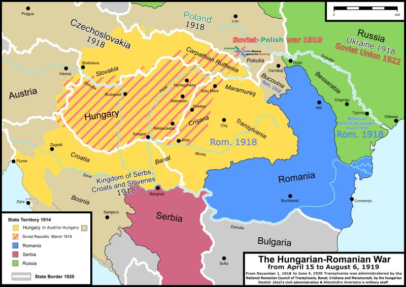 Situaţia regională, 1914–1920 - foto preluat de pe ro.wikipedia.org