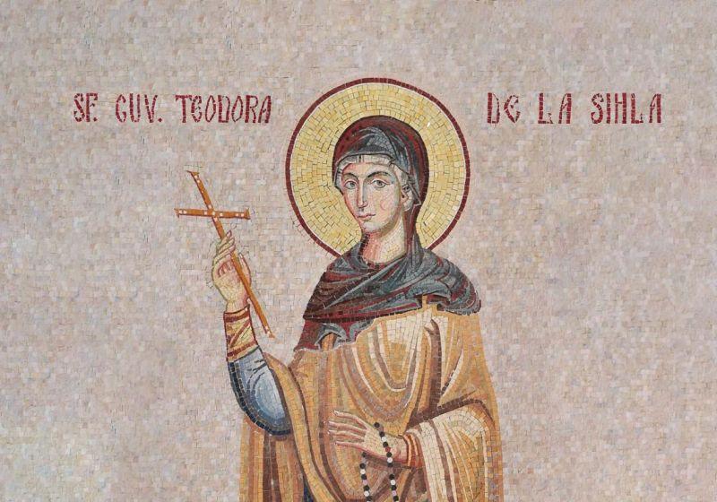 Sfânta Cuvioasă Teodora de la Sihla a trăit în Moldova secolului al XVII-lea, nevoindu-se în viața călugărească cea mai mare parte a vieții sale. Este cea dintâi româncă trecută în rândul sfinților. Biserica Ortodoxă Română o prăznuiește pe data de 7 august - foto preluat de pe ziarullumina.ro