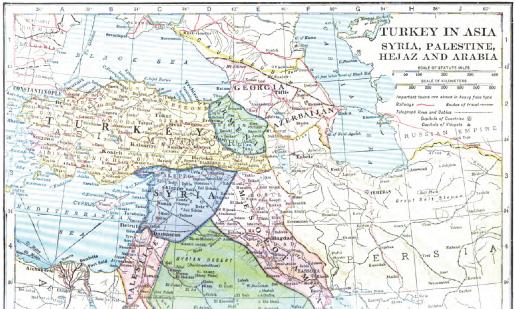 Tratatul de la Sèvres (10 august 1920) - Imperiul Otoman după Tratatul de la Sèvres - foto preluat de pe ro.wikipedia.org