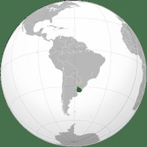 Amplasarea Uruguayului în America de Sud - foto preluat de pe ro.wikipedia.org