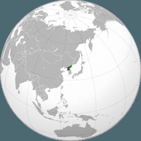 Amplasarea Coreei de Nord (verde) în Asia - foto preluat de pe ro.wikipedia.org