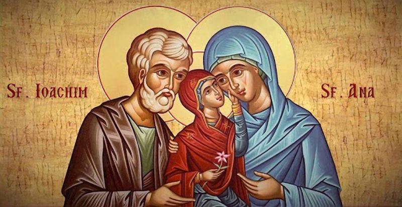 Sfinţii şi Drepţii dumnezeieşti Părinţi Ioachim şi Ana - foto preluat de pe ziarullumina.ro
