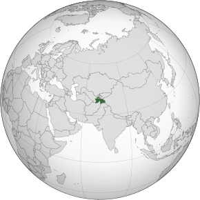 Localizarea Tadjikistanului - foto preluat de pe ro.wikipedia.org