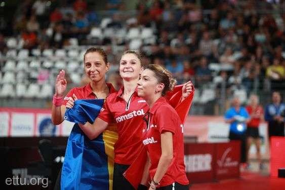 Tenis de masă - Echipa feminină a României, din nou campioană europeană (8 septembrie 2019) - foto preluat de pe agerpres.ro