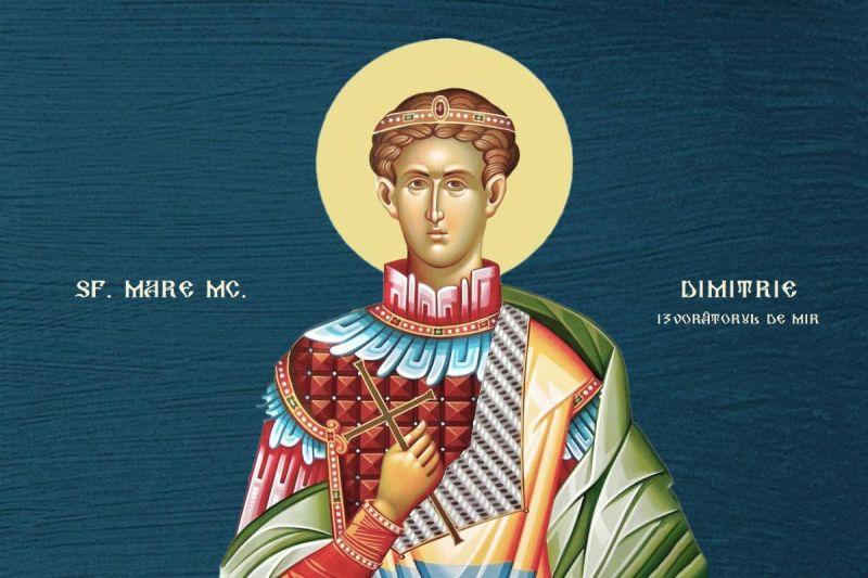 Sf. Mare Mc. Dimitrie, Izvorâtorul de Mir (†303) - foto preluat de pe ziarullumina.ro