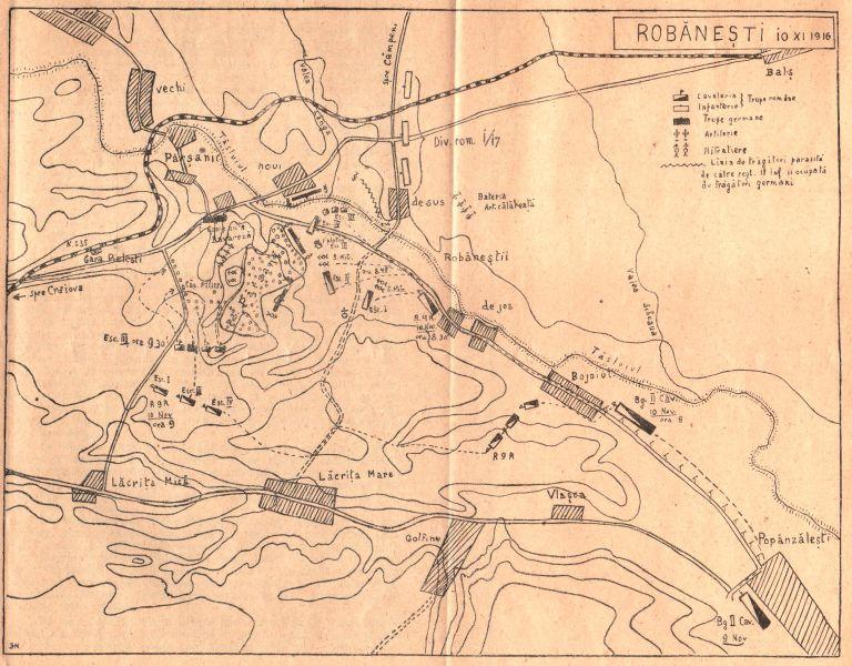 Robăneşti, 10 noiembrie 1916:aşezarea în teren a trupelor - foto preluat de pe www.historia.ro