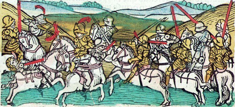 Bătălia de la Posada (9 - 12 noiembrie 1330) în cronica lui Johann de Thurocz - foto preluat de pe ro.wikipedia.org