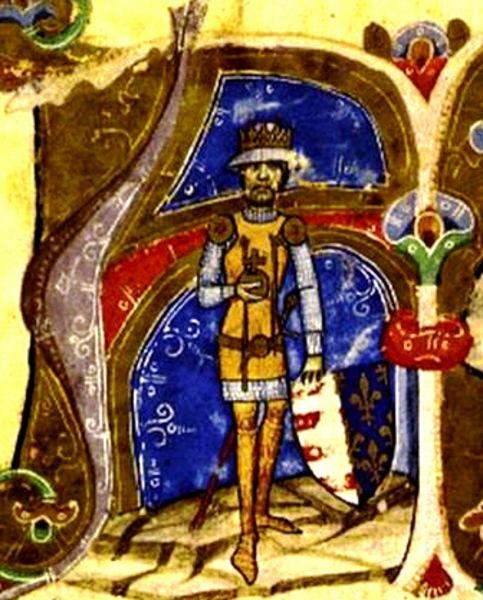 Carol Robert de Anjou (n. 1288, Napoli - d. 16 iulie 1342, Visegrád) a fost fiul lui Carol Martel de Anjou (rege titular al Ungariei, după stingerea dinastiei arpadiene) și al Clementiei de Habsburg. În anul 1308 a devenit rege efectiv al Ungariei sub numele de Carol I. A dezvoltat economia țării, prin impulsionarea mineritului. În contextul tulburărilor feudale a mutat capitala Regatului Ungariei la Timișoara (1316-1323), unde a murit prima lui soție, Maria de Bytom(en), înmormântată probabil în Biserica Franciscană din Timișoara - (Charles depicted in the Illuminated Chronicle) - foto preluat de pe en.wikipedia.org