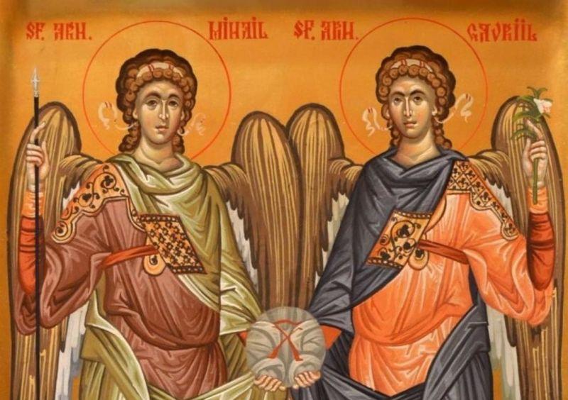 Sf. Arhangheli Mihail şi Gavriil - foto preluat de pe ziarullumina.ro