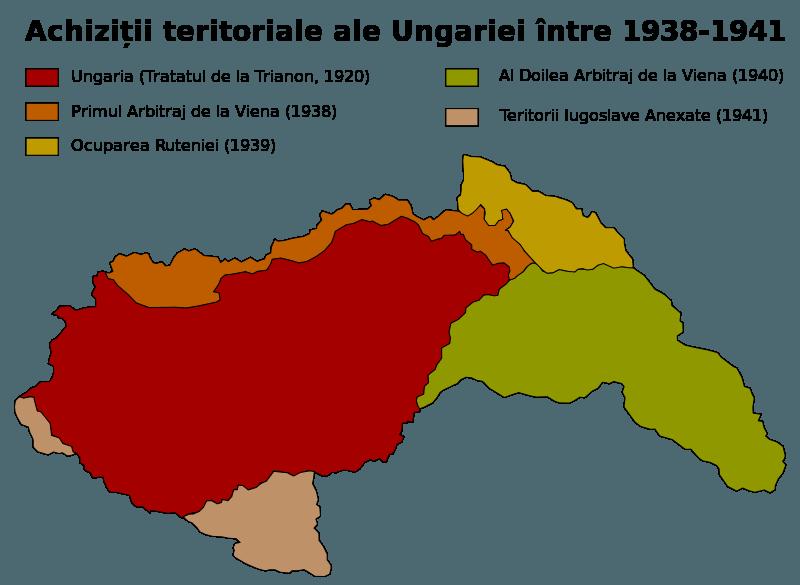 Primul Arbitraj de la Viena și alte achiziții teritoriale (2 noiembrie 1938) - foto preluat de pe ro.wikipedia.org