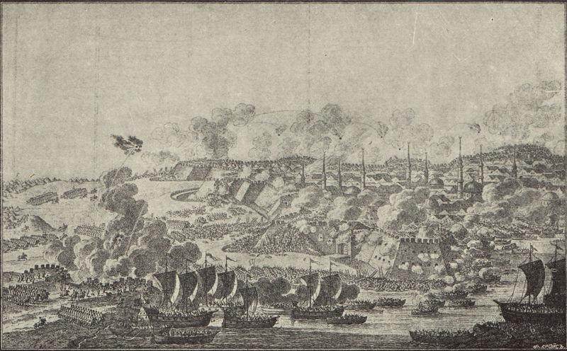 Asediul Ismailului (22 decembrie 1790) - Ilustraţie a asediului din 1912 - foto preluat de pe ro.wikipedia.org