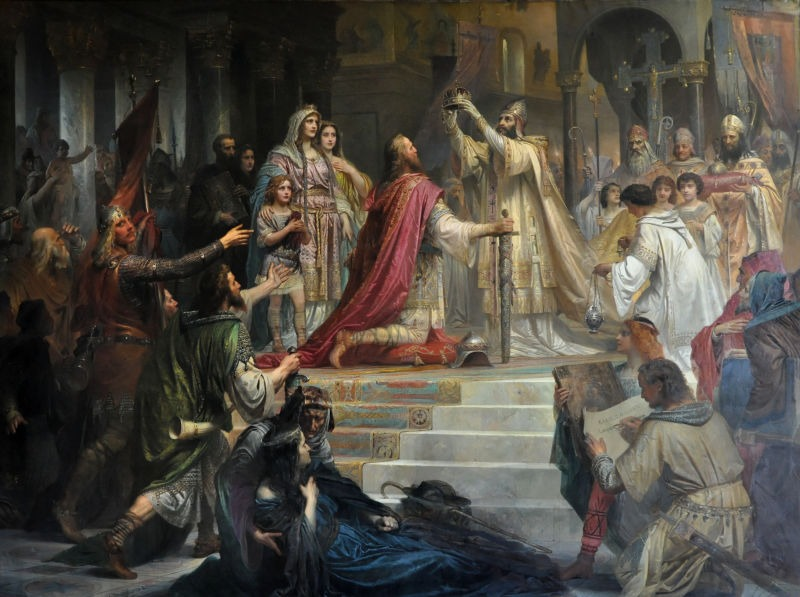 Imperial Coronation of Charlemagne (25 December 800), by Friedrich Kaulbach, 1861 - foto preluat de pe en.wikipedia.org