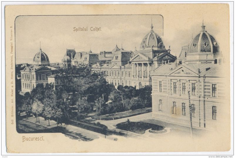 Spitalul Coltea (Sursa delcampe.net) -  foto preluat de pe bercenidepoveste.ro