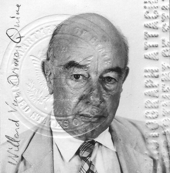 """Willard Van Orman Quine (25 iunie 1908 – 25 decembrie 2000), frecvent întâlnit sub forma W.V. Quine sau W.V.O. Quine (dar cunoscut de prietenii apropiaţi drept """"Van"""") a fost unul din cei mai influenţi filozofi şi logicieni americani ai secolului XX. Quine este cel mai important continuator al ideilor lui Rudolf Carnap, precum şi cel mai mare empirist american - foto preluat de pe ro.wikipedia.org"""