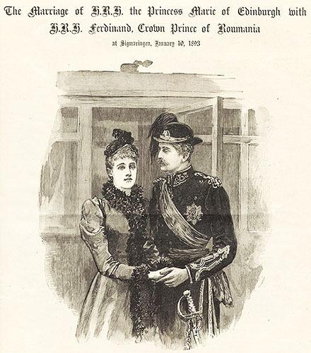 Oficierea căsătoriei dintre Principele Ferdinand şi Principesa Maria, la castelul Sigmaringen în Germania (29 decembrie 1892/10 ianuarie 1893) - foto preluat de pe www.bunicutavirtuala.com
