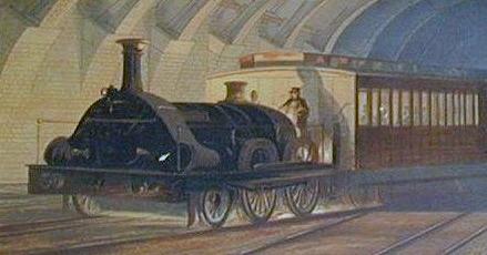 The Metropolitan Railway opened using GWR broad gauge locomotives - foto preluat de pe en.wikipedia.org
