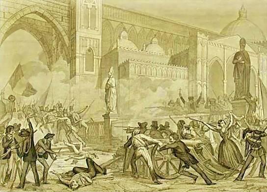 Revoluţia în Palermo (12 ianuarie 1848) - foto preluat de pe ro.wikipedia.org