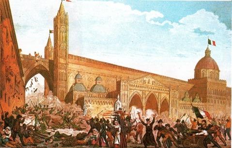 Revoluţia în Palermo (12 ianuarie 1848) - foto preluat de pe en.wikipedia.org