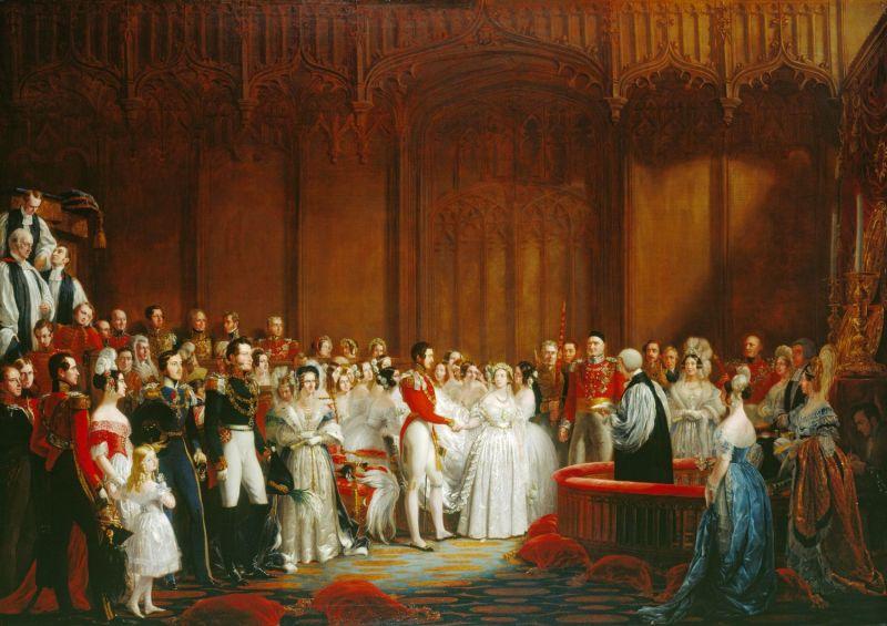 Căsătoria Victoriei și a Prințului Albert (10 februarie 1840), de Sir George Hayter - foto preluat de pe ro.wikipedia.org