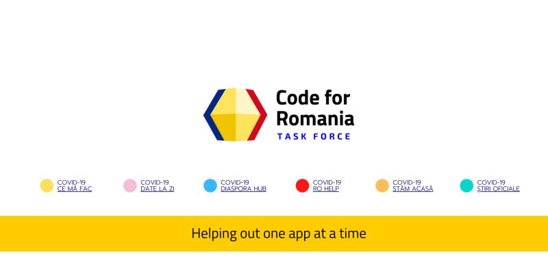 Task Force-ul Code for Romania pune șase aplicații în lupta cu efectele COVID-19 -> https://code4.ro/ro/apps/ - foto preluat de pe www.facebook.com