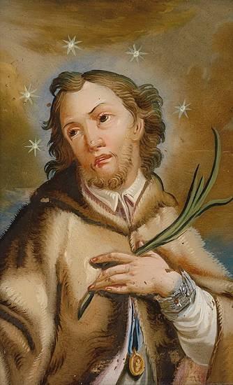 """Sfântul Ioan Nepomuk (n. cca 1345 - d. 20 martie 1393, Praga) a fost un preot și martir creștin, probabil de origine germană, născut sub numele """"Johannes Welflin"""" în """"Pomuk"""", localitate din Boemia de vest - foto preluat de pe en.wikipedia.org"""