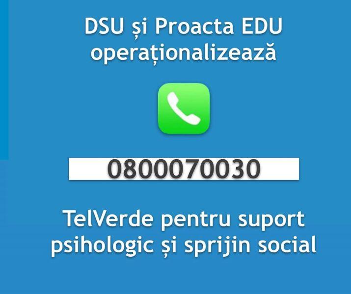 """""""Voluntarii Împreună"""" - 0800070030 - TelVerde pentru suport psihologic și sprijin social - www.facebook.com"""