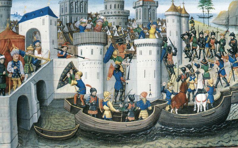 Cucerirea Constantinopolelui de cruciaţi în 1204 - foto preluat de pe ro.wikipedia.org