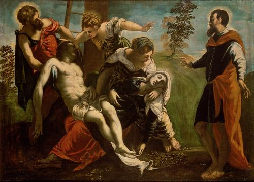 Descent from the Cross - Tintoretto - foto preluat de pe commons.wikimedia.org