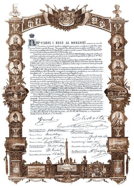 Actul proclamării Regatului României - foto preluat de pe ro.wikisource.org