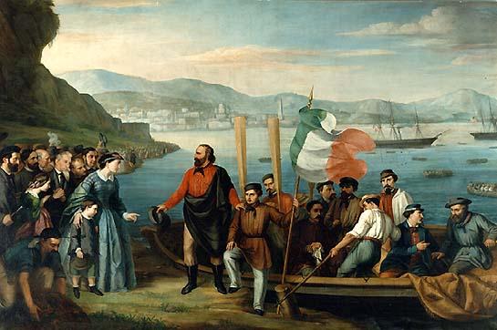 Expediţia celor O Mie (1860–1861) - Începutul expediţiei la Quarto - foto preluat de pe ro.wikipedia.org