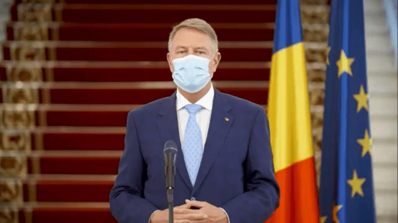 Klaus Iohannis - Președintele României - foto captura video din Declarație de presă (22.04.2020)