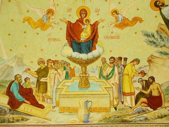 Izvorul Tămăduirii sau Vinerea Izvorului Tămăduirii este un praznic al Maicii Domnului așezat de Biserica Ortodoxă în Vinerea din Săptămâna luminată - foto preluat de pe  doxologia.ro