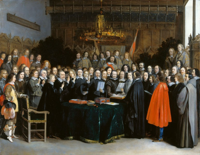 The Ratification of the Treaty of Münster, 15 May 1648 (1648) by Gerard ter Borch - foto preluat de pe en.wikipedia.org
