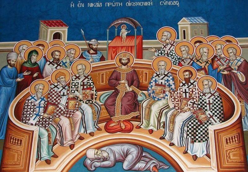 Sfinții Părinți de la Sinodul I Ecumenic - foto preluat de pe basilica.ro