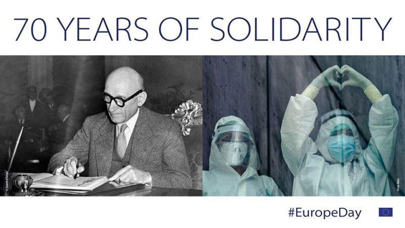 9 mai 2020 - Ziua Europei -  foto preluat de pe www.facebook.com