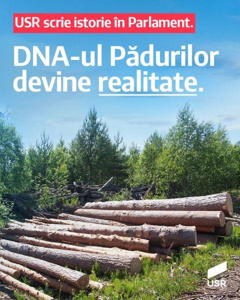 DNA-ul Pădurilor a fost votat astăzi în Senat (16 iunie 2020) - foto preluat de pe www.facebook.com/USRNational