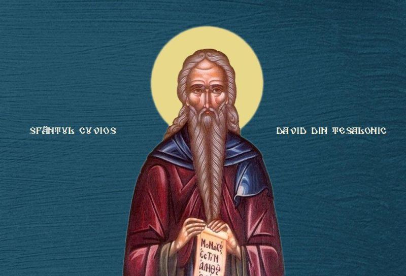 Sfântul Cuvios David din Tesalonic (†540) - foto preluat de pe ziarullumina.ro