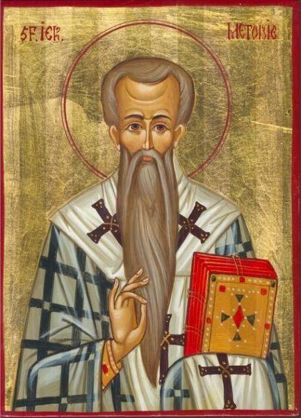 Sf. Ier. Metodie Mărturisitorul, patriarhul Constantinopolului († 847) - foto preluat de pe doxologia.ro