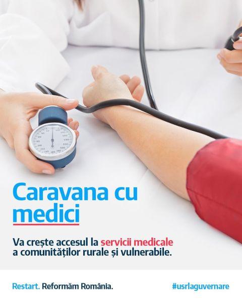 Caravana cu medici - creşterea accesului la servicii medicale a comunităţilor rurale și vulnerabile - foto preluat de pe www.facebook.com/USRNational