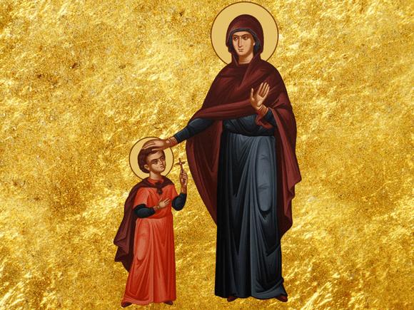 Sfinții Mucenici Chiric și Iulita (+304) erau originari din Licaonia (Asia Mică), Sfânta Iulita fiind mama Sfântului Chiric, în vârstă de 3 ani - foto preluat de pe basilica.ro