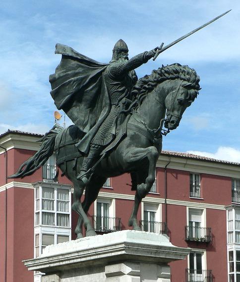 Rodrigo Díaz de Vivar (n. Vivar del Cid, Castilia și León, Spania – d. 1099, Valencia, Comunitatea Valenciană, Spania) a fost un cavaler castilian și șef militar în Spania medievală. Maurii l-au numit El Cid - foto preluat de pe ro.wikipedia.org