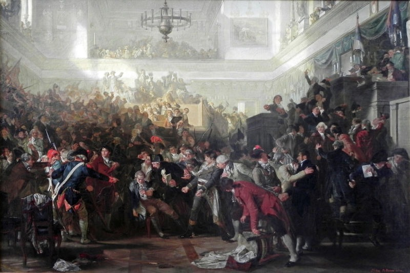 The Fall of Robespierre in the convention on 27 July 1794 - foto preluat de pe en.wikipedia.org