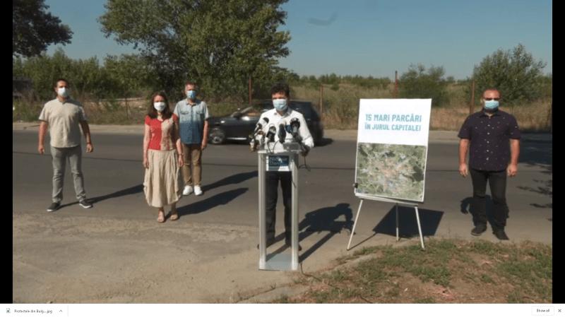 Nicușor Dan: Conferință de presă pe tema marilor parcări din jurul Capitalei și a necesității unui sistem de tip park&ride (30 iulie 2020) - foto captura video